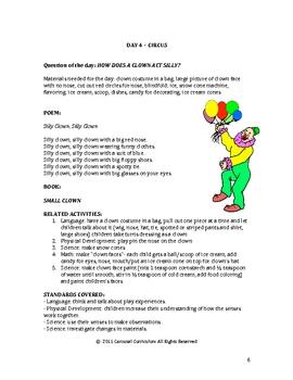 Pre-School Lesson Plans For Circus Animals Unit