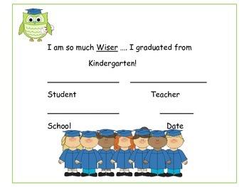 Pre-School and Kindergarten Graduation Certificates
