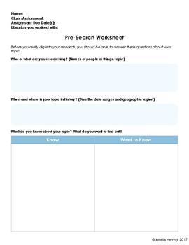 Pre-Search Worksheet
