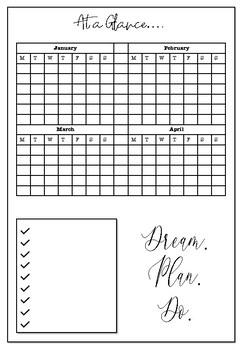 picture about Study Planner Printable identify Pre-Company Instructor Printable: Every year Undated Research Planner