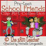 Pre-Teen School Friends Clip Art Set by The 3AM Teacher