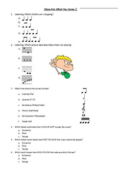 Music Pre-Test Baseline Assessment--British