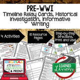 Pre-WWI Timeline, Investigation, & Writing (Paper and Google )
