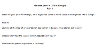 Pre-War Jewish Life in Europe (Guided Notes/Analysis)