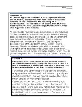 Pre-World War II Primary Source Analysis Using SOAPSTONE