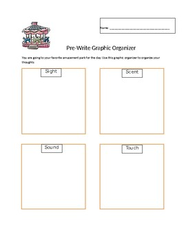 Pre-Write Organizer and Writing Prompt Using the Five Senses