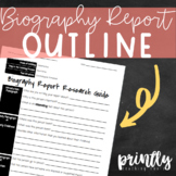 Biography Report Research Outline