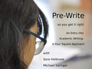 Pre-Write to Get it Right - a four square strategy.