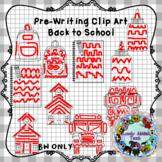 Pre-Writing Back to School Clip Art