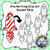 Pre-Writing Clip Art: Rocket Ships