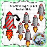 Pre-Writing Clip Art: Rocket Ships *color