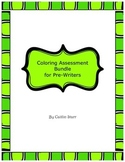 Coloring Assessment Bundle for Pre-Writers