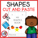 Pre-Writing - Cutting and Gluing Shapes - Make a book! (Distance Learning)