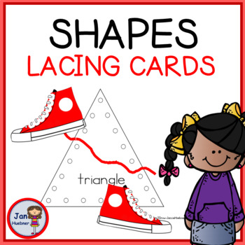Shape Lacing Cards Worksheets Teaching Resources Tpt