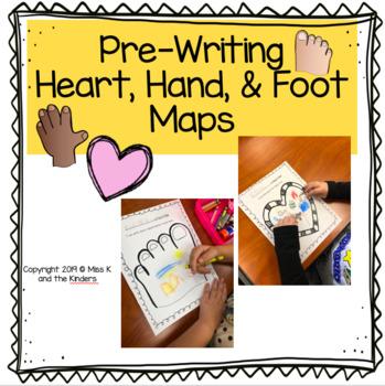 Pre-Writing Heart, Hand, & Foot Maps!