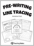 Pre-Writing Line Tracing Workbook in BW