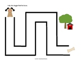 Pre-Writing Maze (Vertical and Horizontal Lines) - Level 1