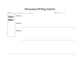 Pre-Writing Organizer for Persuasive Writing