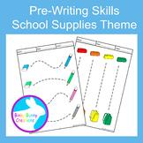 Pre-Writing Pencil Drawing Skills Fine Motor School Supplies Theme
