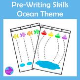 Pre-Writing Pencil Drawing Skills Fine Motor Ocean Theme