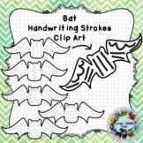 Pre-Writing Practice Clip Art: Bats