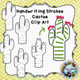 Pre-Writing Practice Clip Art: Cactus