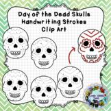 Pre-Writing Practice Clip Art: Day of the Dead Sugar Skulls