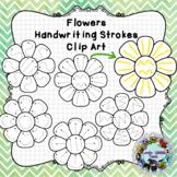 Pre-Writing Practice Clip Art: Flowers