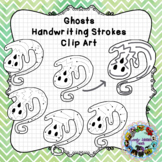 Pre-Writing Practice Clip Art: Ghosts