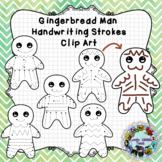Pre-Writing Practice Clip Art: Gingerbread Man