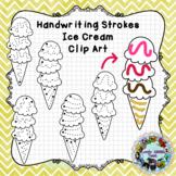 Pre-Writing Practice Clip Art: Ice Cream Cones