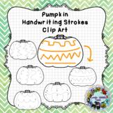 Pre-Writing Practice Clip Art: Pumpkins
