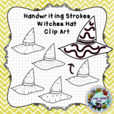 Pre-Writing Practice Clip Art: Witches Hats