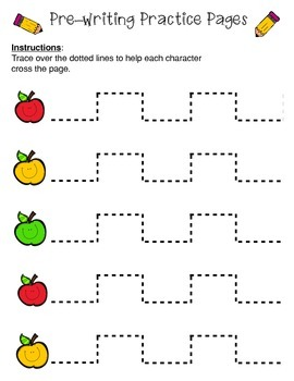 Pre-Writing Practice Pages: Apples Pack