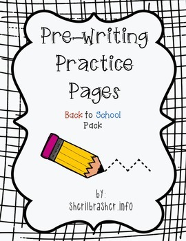 Pre-Writing Practice Pages: Back 2 School Pack