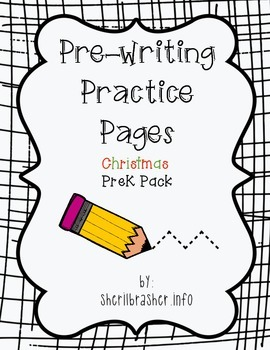 Pre-Writing Practice Pages: Christmas Pack
