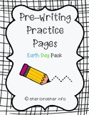 Pre-Writing Practice Pages: Earth Day Pack