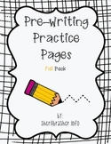 Pre-Writing Practice Pages: Fall Pack