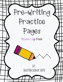 Pre-Writing Practice Pages: Friendship Pack