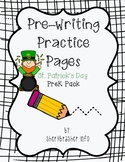 Pre-Writing Practice Pages: St Patrick's Day Pack