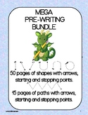 Pre-Writing Shapes and Paths Mega Bundle 65 PAGES! OT Handwriting Practice