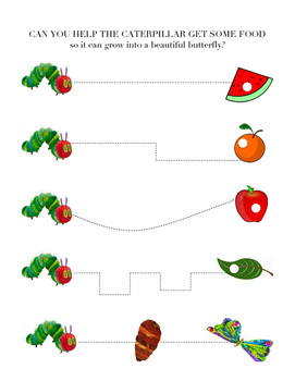 The Very Hungry Caterpillar: Pre-Writing Skills