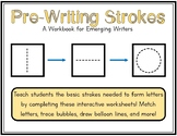 Pre-Writing Strokes Packet