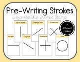 Pre-Writing Strokes Practice