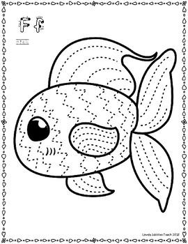 Pre-Writing Strokes Practice: Ocean Creatures
