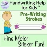 Preschool Handwriting - Fine Motor Sticker Fun with Pre-Writing Strokes!