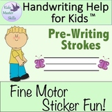 Preschool Handwriting - Fine Motor Sticker Fun with Pre-Wr