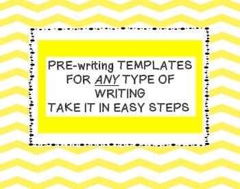 Pre-Writing Templates