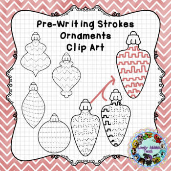 Pre-Writing Clip Art Themed Ornaments