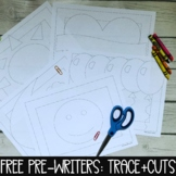 Free Downloads - Trace and Cut Worksheets (Pre-Writers)
